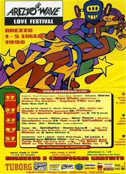 arezzo Wave 1998 - main stage