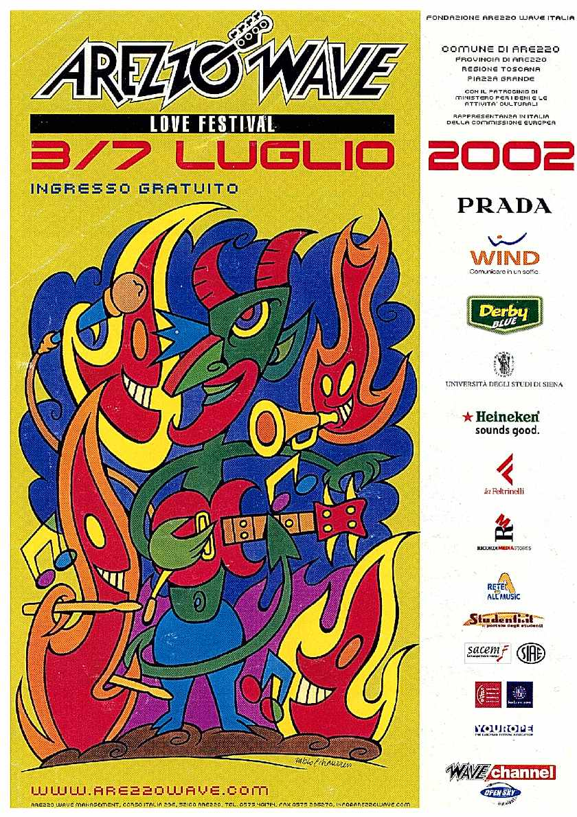 Arezzo Wave 2002 - Wake up Stage
